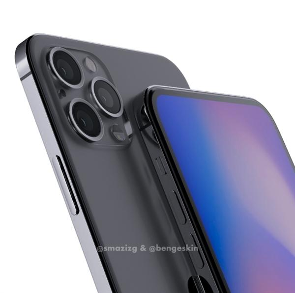 iPhone 12 Pro假想渲染图:干掉刘海、外观回归iPhone 4的照片 - 4