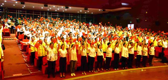 淮安清江浦区举行庆祝新中国成立70周年暨第一届社区工作者文化节集中汇演活动