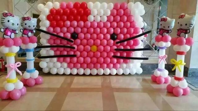 寶寶宴氣球怎么布置?分享寶寶宴氣球簡單布置圖