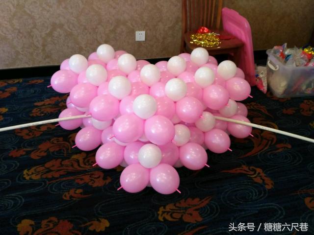 气球立体爱心教学教程图片分享与学习