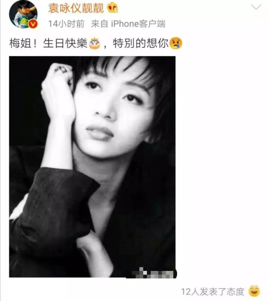 袁咏仪发文为梅艳芳庆56岁冥诞,连续十年未间断,姐妹情让人泪目