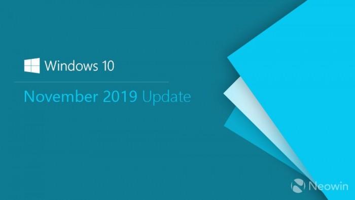 微软敲定Win10 November 2019更新 版本为Build 18363.418