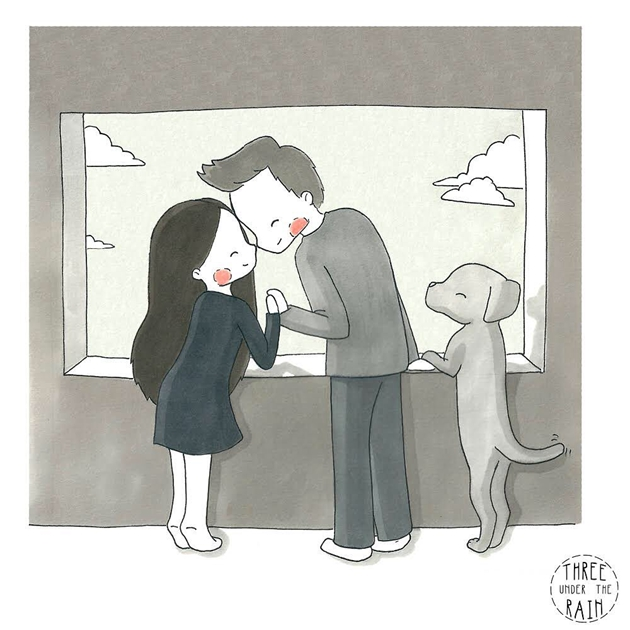 只有爱过才懂《小情侣的日常漫画》,甜滋滋的两人世界真的闪爆众人双眼!