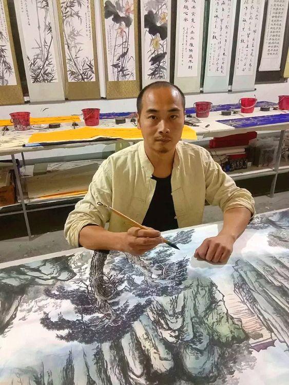 书画家黄志敏先生的笔墨情怀之一毫漫卷