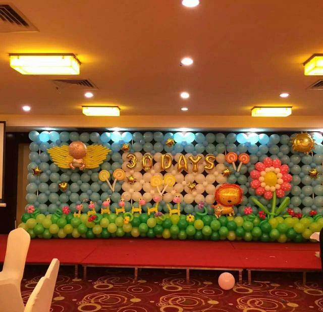 气球墙面简单布置图片!分享气球墙造型制作教程