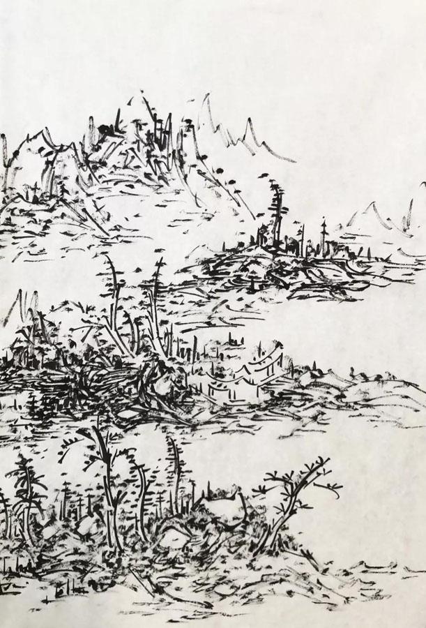 初中海——我之焦墨山水创作