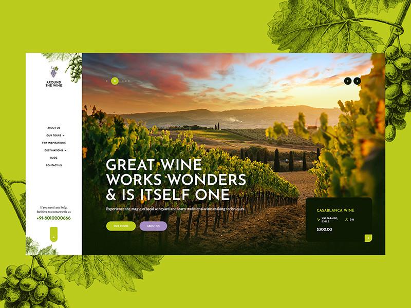 旅游网站着陆页面设计