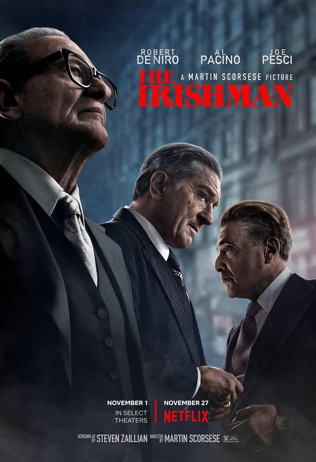 The Irishman (2019) Hindi WEB-DL 480p 720p 1080p Dual Audio [हिंदी DD5.1 + English] ESubs | Full Movie