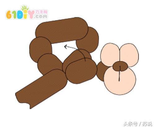 長氣球小猴編織方法!分享魔術氣球做猴子的圖片教程