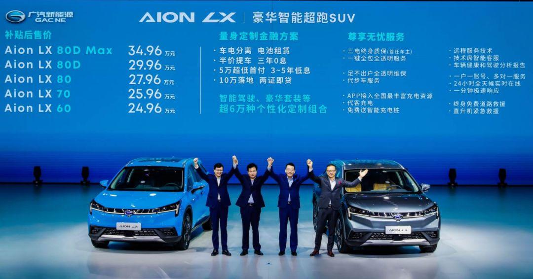 广汽Aion LX24.96万起的定价 底气何在?