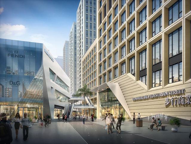 漫步式开放商业街区设计