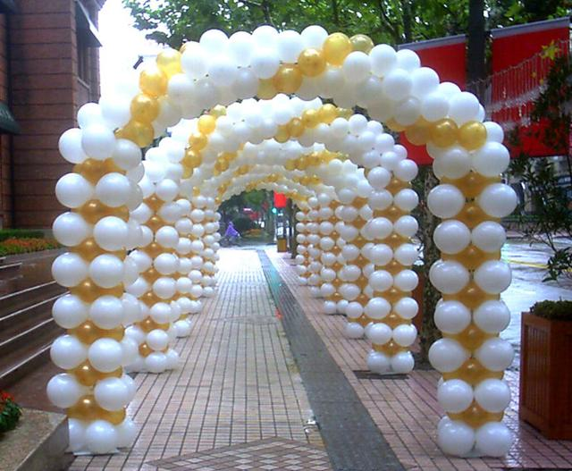 氣球拱門制作方法!分享小型氣球拱門圖片造型教程