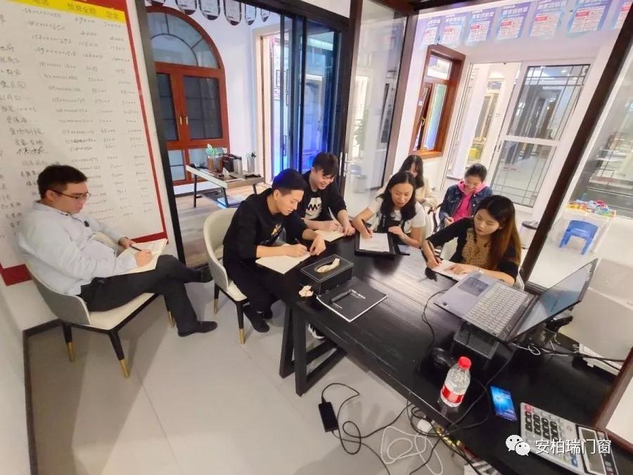 安柏瑞门窗总部营销中心伙伴活动期间到店帮扶