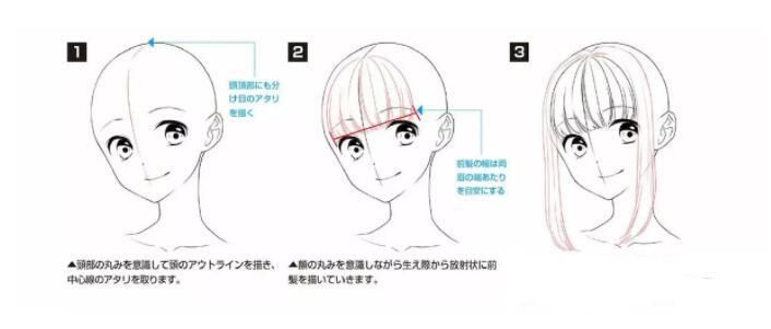 如何画好动漫人物头发?超详细的人物头发绘制教程! 教学教程-第1张