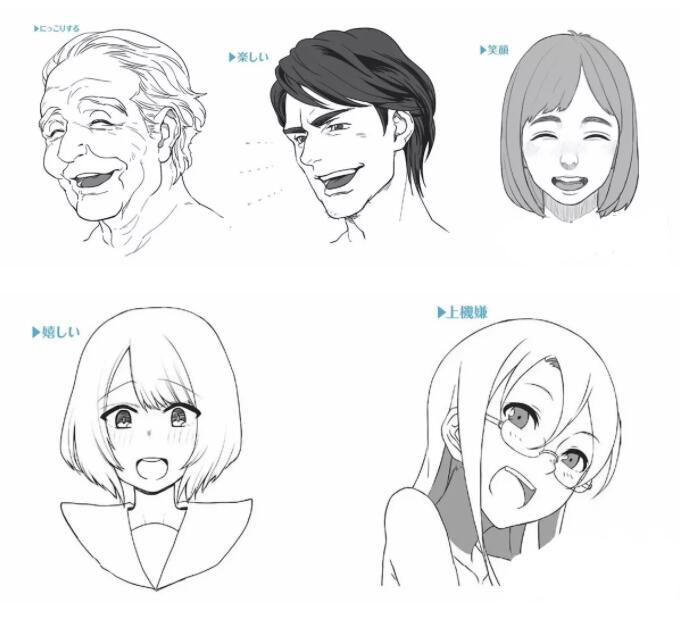 人物表情怎么画?漫画中喜悦表情的画法教程! 教学教程-第1张