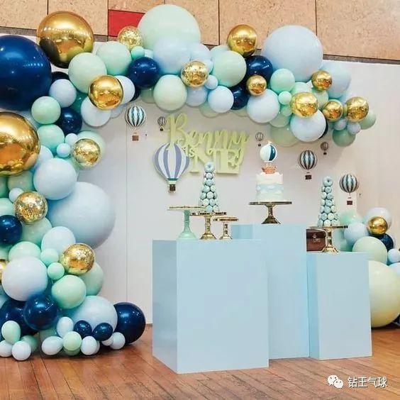金色气球布置效果图!分享金色气球配什么颜色好看