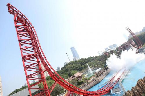 深圳欢乐谷全新6期项目环翼飞车试运行!
