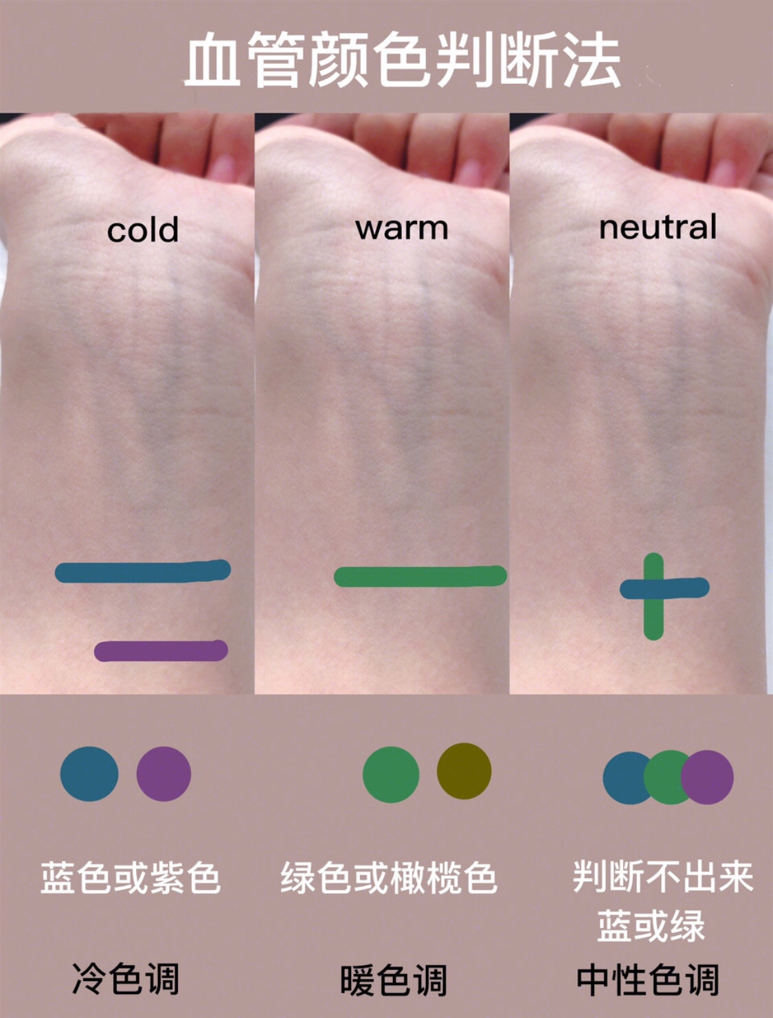 测肤色冷暖 你的皮肤到底适合什么色号的口红粉底液
