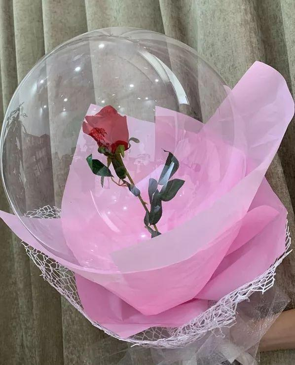 网红波波球怎么安装?网红波波球玫瑰花束欣赏