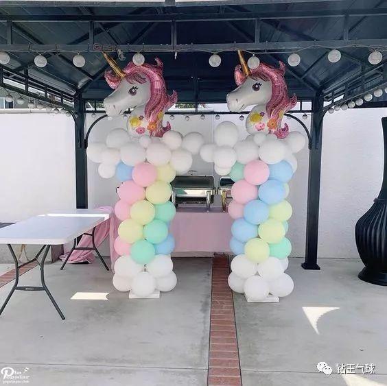 氣球立柱制作方法!2019年爆款的獨角獸造型圖片