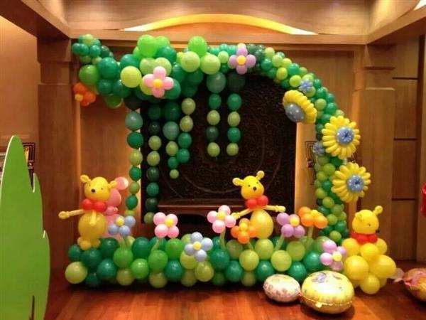 寶寶百日宴氣球裝飾墻布置圖片!分享基礎知識教程