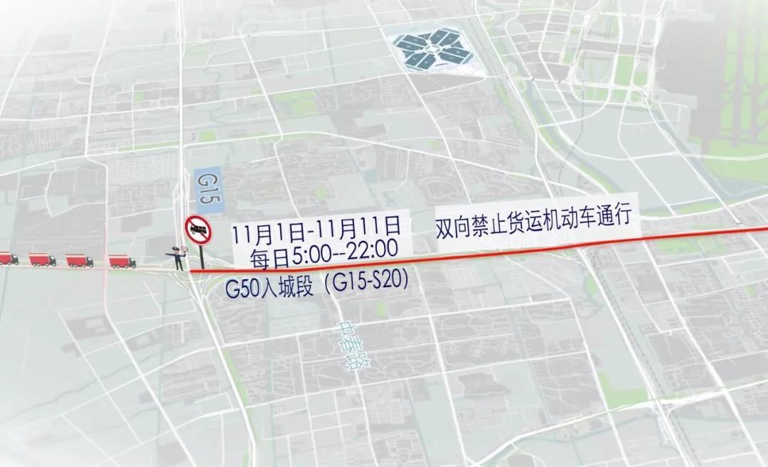 进博会G15沈海高速-S20外环高速交通管制