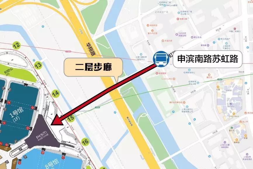进博会公交路线虹桥商务区2路、闵行18路