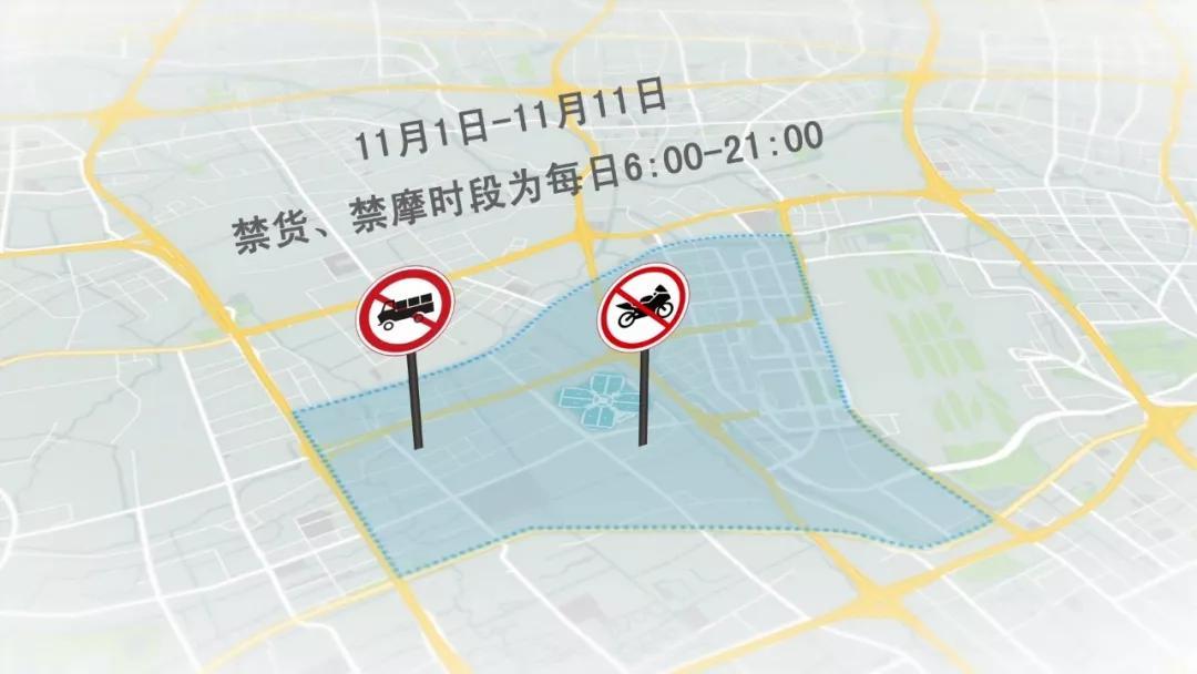 进博会禁止货运机车和摩托车