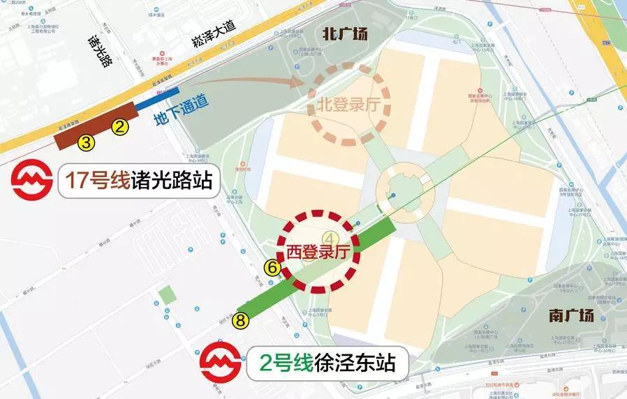 博会地铁线路图2号线徐泾东站
