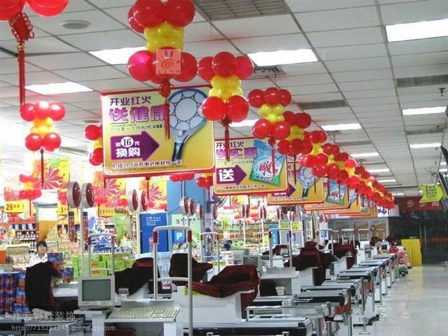 門店活動氣球布置教程!分享店面活動氛圍布置圖片