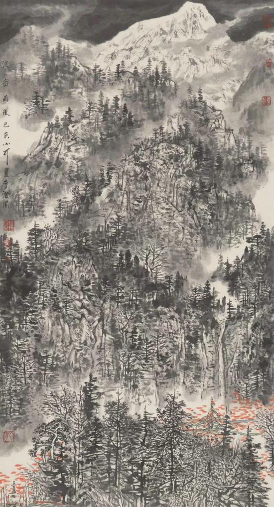 庆贺新中国七十华诞高原雪山画派作品展在云南美术馆隆重开幕