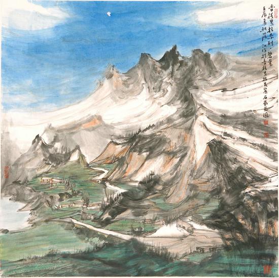 庆贺新中国七十华诞高原雪山画派作品展亮相云南美术馆