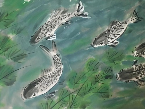 朱明德中国画鱼的收藏价值