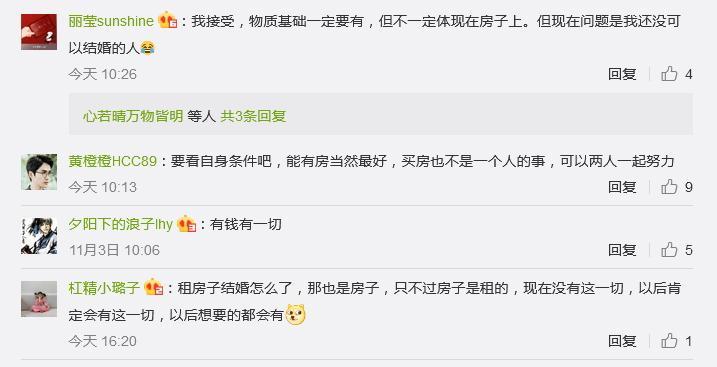 """""""你接受租房结婚吗""""?1亿阅读刷屏网友评论炸锅了的照片 - 4"""