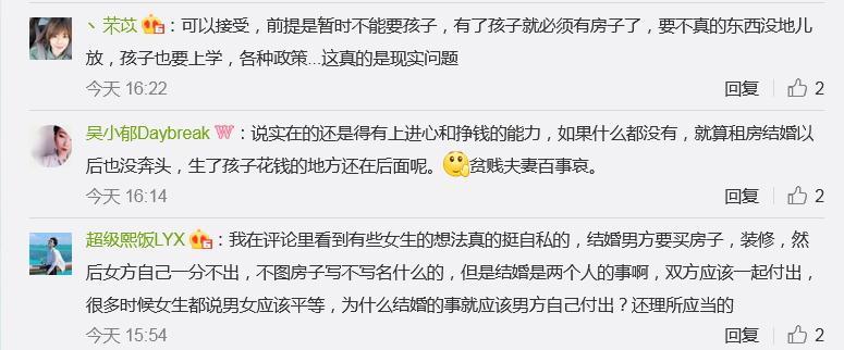 """""""你接受租房结婚吗""""?1亿阅读刷屏网友评论炸锅了的照片 - 5"""