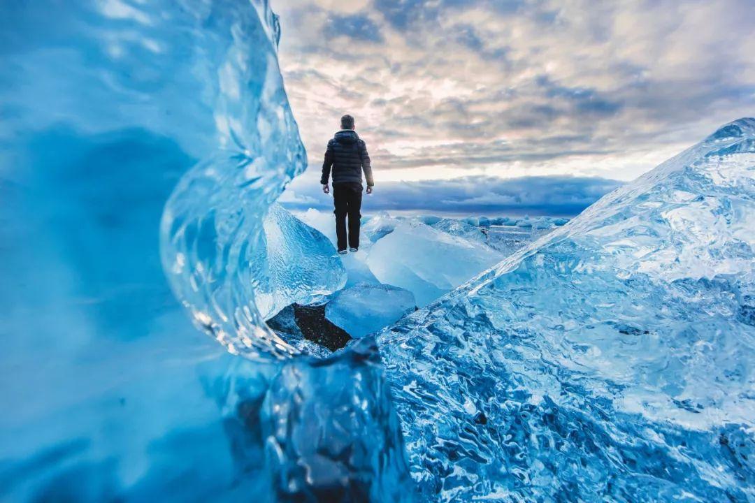 冰岛冰川蓝冰洞