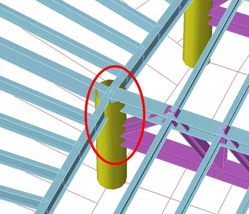 德州国际会展中心典型楼面桁架节点