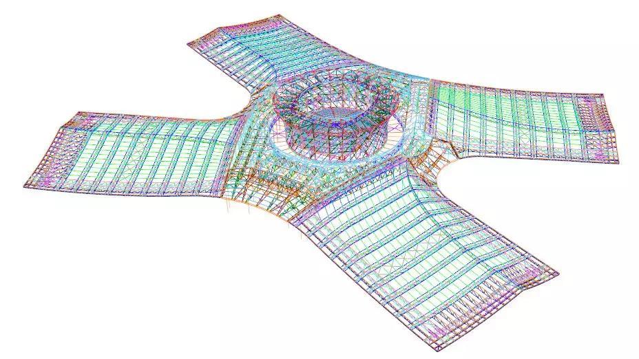 德州国际会展中心整体结构体系