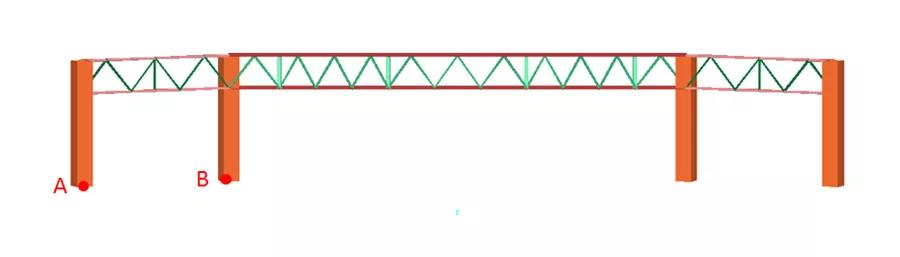 德州国际会展中心支座反力测点布置图