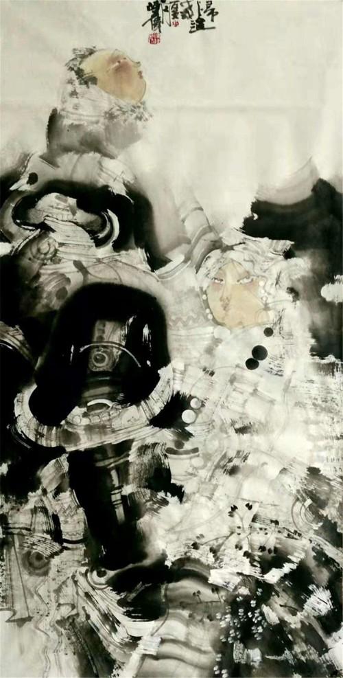 中国书画形象人物 著名画家:陈伟