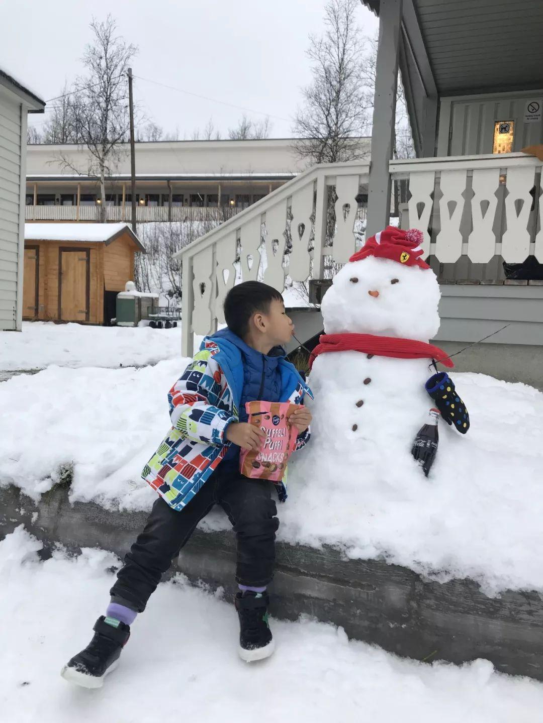 初识拉普兰  人生的第一个雪人