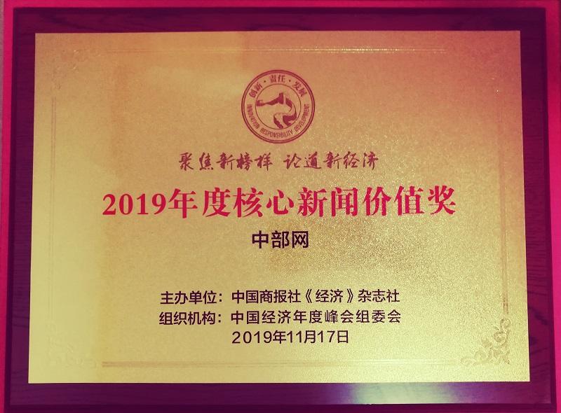 2019年度核心新闻价值奖(中部网)