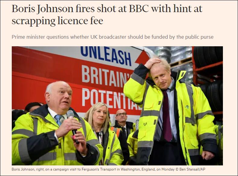 """英国首相""""肯定考虑""""取消BBC收听费,BBC回击_英国新闻_英国中文网"""
