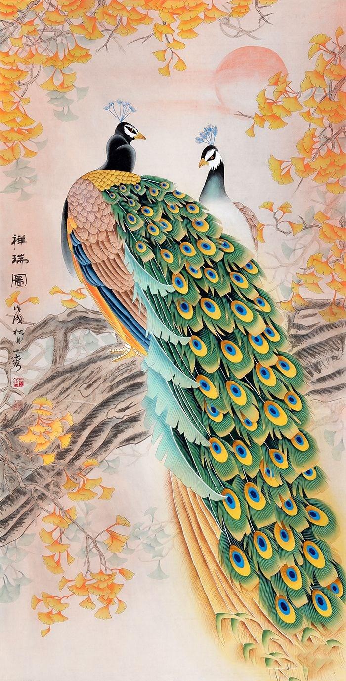 不同走廊花鸟装饰画 不同的韵味美 让人流连忘返