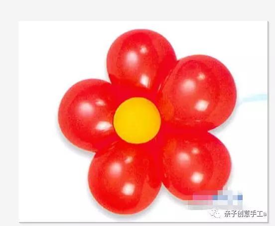 氣球五瓣花的制作圖片教程!2020最新氣球五瓣花扎法