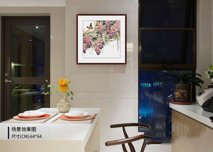 餐厅墙面挂什么画装饰好 经典国画让餐厅充满艺术气息