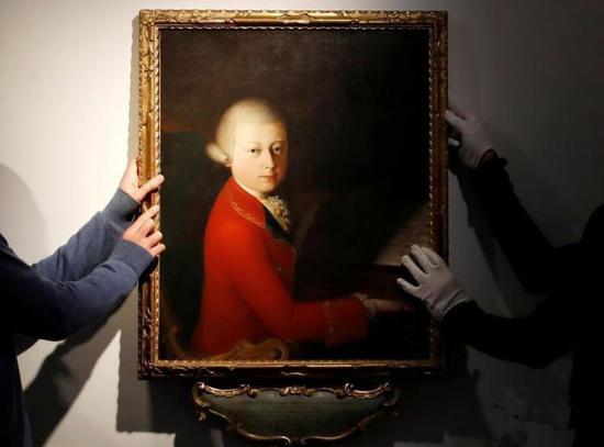 莫扎特13岁时肖像画将被拍卖