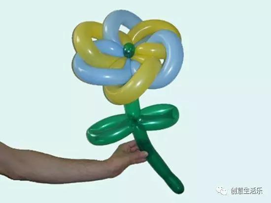氣球花朵造型簡單做法!分享氣球花朵教程圖解