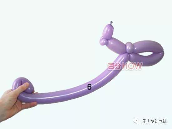 氣球造型教程:用長氣球扭可愛小蝸牛造型(圖文教程)