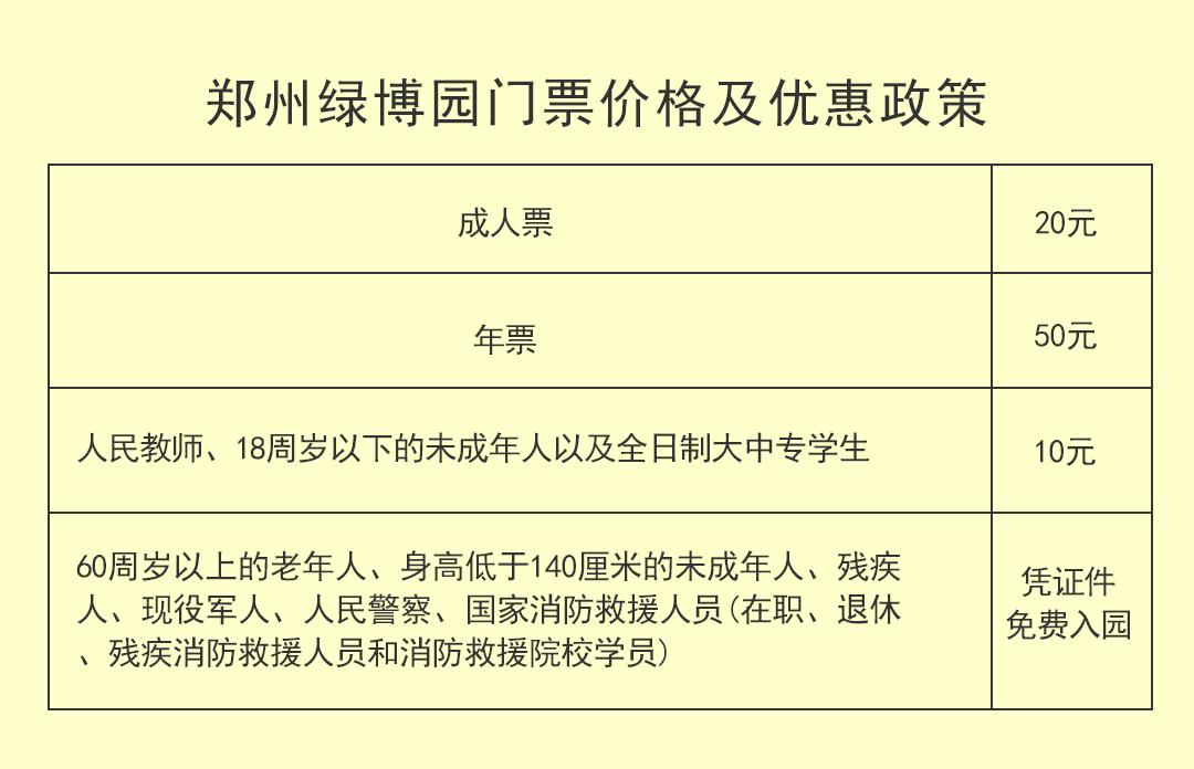 郑州绿博园提前执行优惠政策  60岁以上老人免费游园
